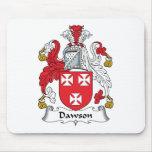 Escudo de la familia de Dawson Alfombrillas De Ratones