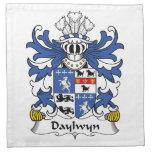 Escudo de la familia de Daylwyn Servilleta Imprimida