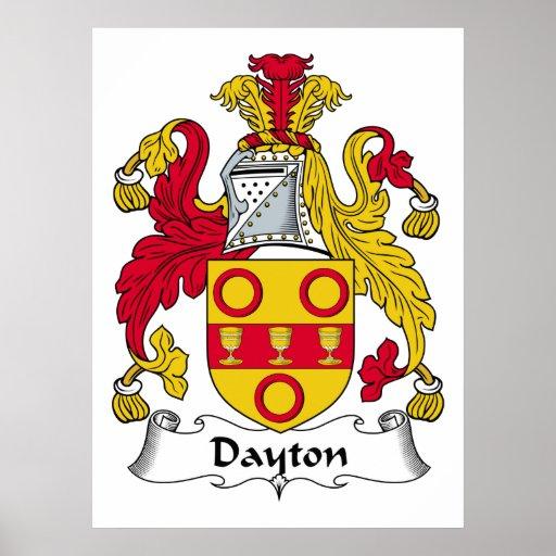 Escudo de la familia de Dayton Póster