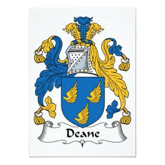 Escudo de la familia de Deane Invitación