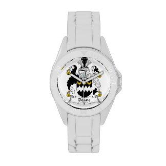 Escudo de la familia de Deane Reloj