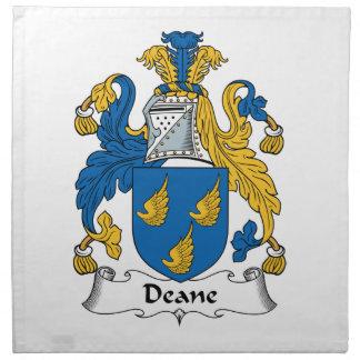 Escudo de la familia de Deane Servilletas