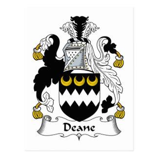 Escudo de la familia de Deane Tarjeta Postal