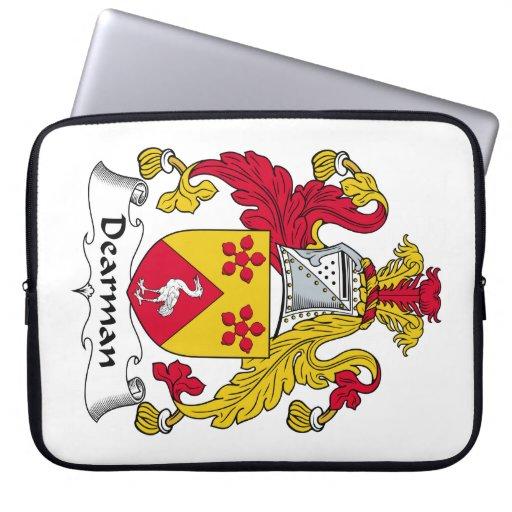 Escudo de la familia de Dearman Funda Computadora