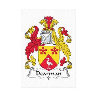 Escudo de la familia de Dearman Lienzo Envuelto Para Galerias