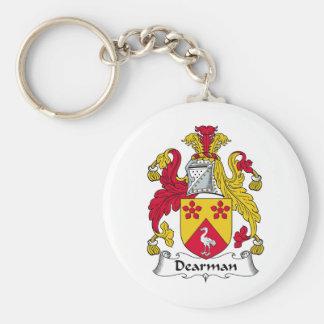 Escudo de la familia de Dearman Llavero Redondo Tipo Pin