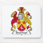 Escudo de la familia de Dearman Tapetes De Ratones