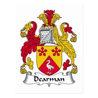 Escudo de la familia de Dearman Tarjetas Postales