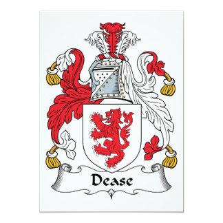 """Escudo de la familia de Dease Invitación 5"""" X 7"""""""