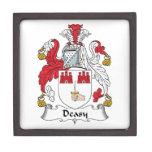Escudo de la familia de Deasy Caja De Recuerdo De Calidad
