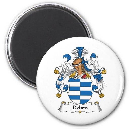 Escudo de la familia de Deben Imán Redondo 5 Cm