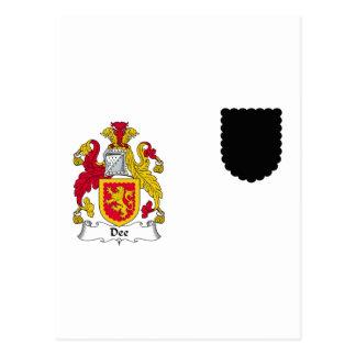 Escudo de la familia de Dee Postal