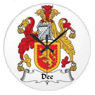 Escudo de la familia de Dee Reloj Redondo Grande