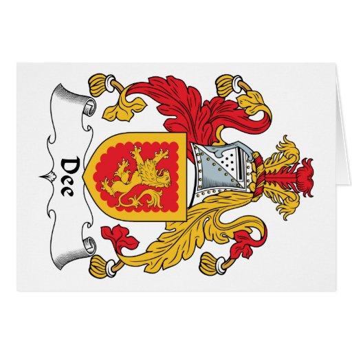 Escudo de la familia de Dee Tarjeton