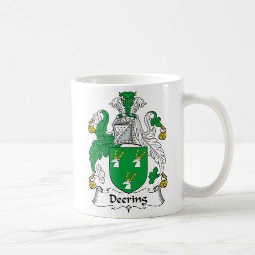 Escudo de la familia de Deering Taza De Café