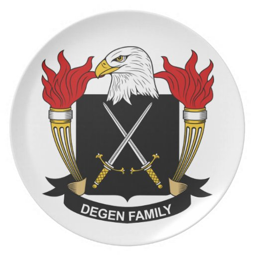 Escudo de la familia de Degen Platos