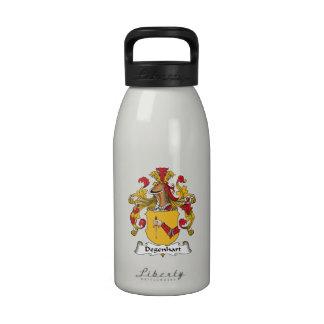 Escudo de la familia de Degenhart Botellas De Beber