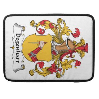 Escudo de la familia de Degenhart Fundas Para Macbook Pro