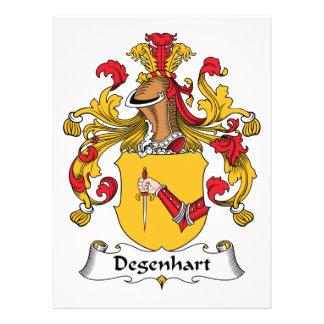 Escudo de la familia de Degenhart Comunicado Personalizado