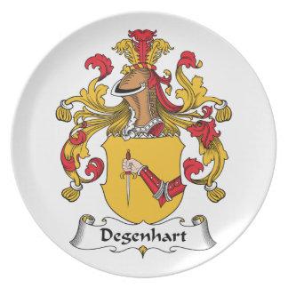 Escudo de la familia de Degenhart Plato De Comida