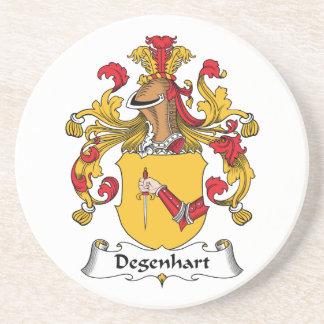 Escudo de la familia de Degenhart Posavasos Para Bebidas
