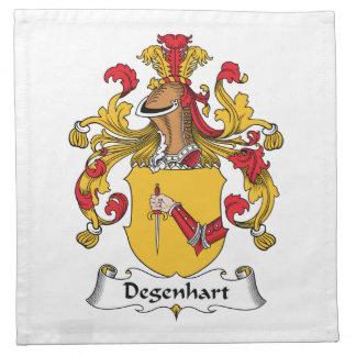 Escudo de la familia de Degenhart Servilletas Imprimidas
