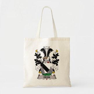 Escudo de la familia de Degn Bolsas Lienzo