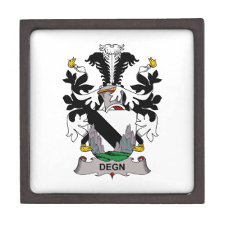 Escudo de la familia de Degn Caja De Joyas De Calidad