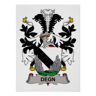Escudo de la familia de Degn Posters