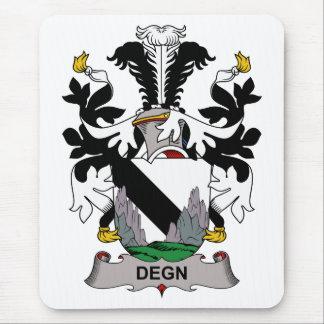 Escudo de la familia de Degn Tapetes De Ratón