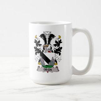 Escudo de la familia de Degn Tazas De Café