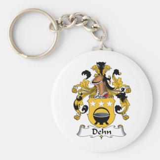 Escudo de la familia de Dehn Llavero Redondo Tipo Pin