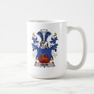 Escudo de la familia de Dehn Taza Básica Blanca