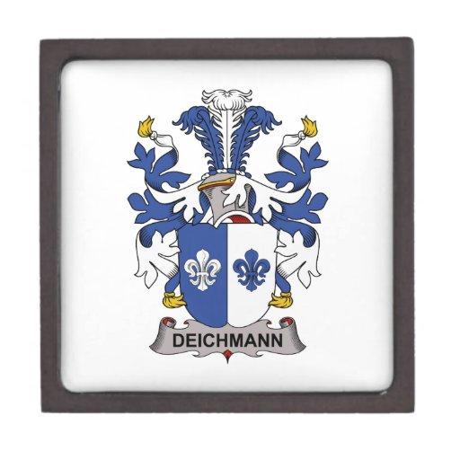 Escudo de la familia de Deichmann Cajas De Recuerdo De Calidad