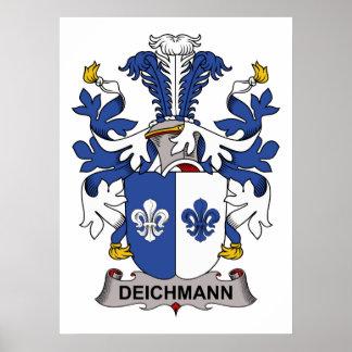 Escudo de la familia de Deichmann Póster