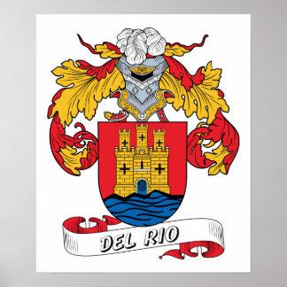 Escudo de la familia de Del Río Posters