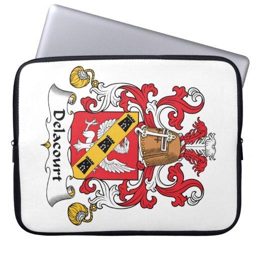 Escudo de la familia de Delacourt Funda Ordendadores