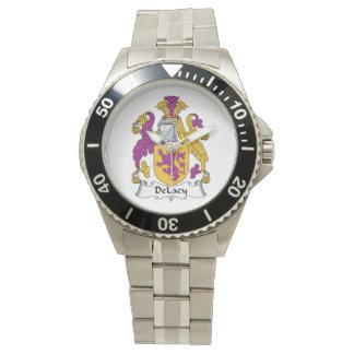 Escudo de la familia de DeLacy Relojes De Pulsera