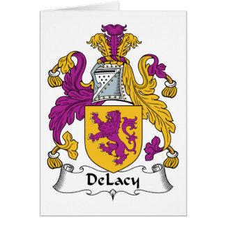 Escudo de la familia de DeLacy Tarjeta De Felicitación