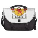 Escudo de la familia de Delafield Bolsas Para Ordenador