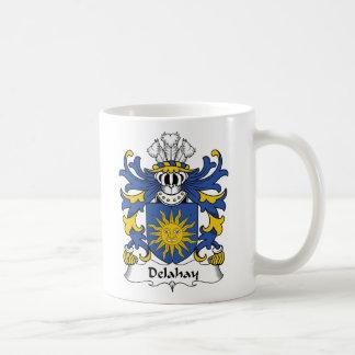 Escudo de la familia de Delahay Taza De Café