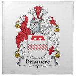 Escudo de la familia de Delamere Servilletas