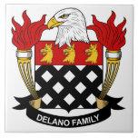 Escudo de la familia de Delano Azulejo Ceramica