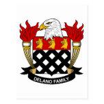 Escudo de la familia de Delano Postal