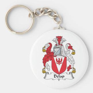 Escudo de la familia de Delap Llavero Redondo Tipo Pin