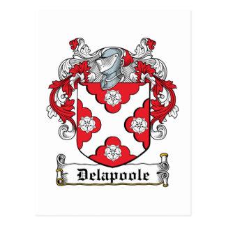 Escudo de la familia de Delapoole Tarjetas Postales