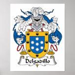 Escudo de la familia de Delgadillo Impresiones