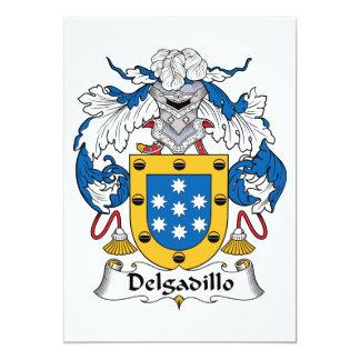 """Escudo de la familia de Delgadillo Invitación 5"""" X 7"""""""