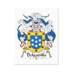 Escudo de la familia de Delgadillo Impresion De Lienzo