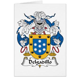Escudo de la familia de Delgadillo Tarjeta De Felicitación